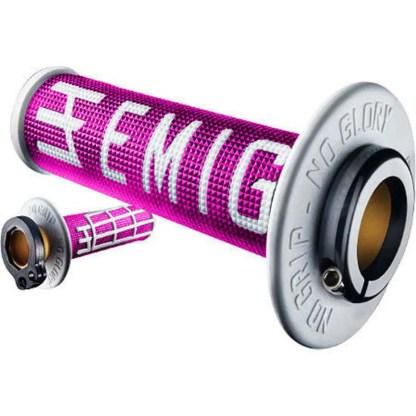 ODI EMIG Racing Lock-on Grip Set Pink