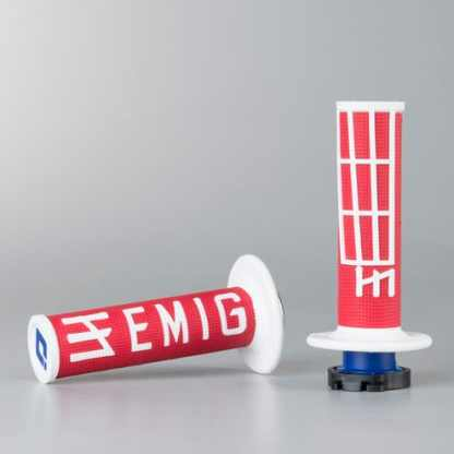 ODI EMIG Racing Lock-on Grip Set Red/White