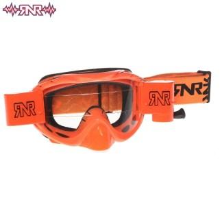 RNR Hybrid Fully Loaded Roll Off Goggles Neon Orange