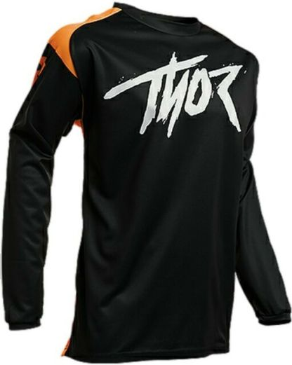 Thor Sector Link Jersey Black Orange Youth