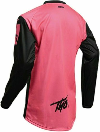 Thor Sector Link Jersey Black Pink Youth Back