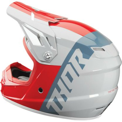 Thor Sector Shear Helmet Red/Light Grey Youth Side