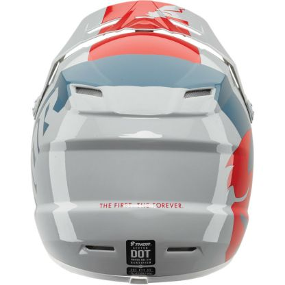 Thor Sector Shear Helmet Red/Light Grey Youth Back