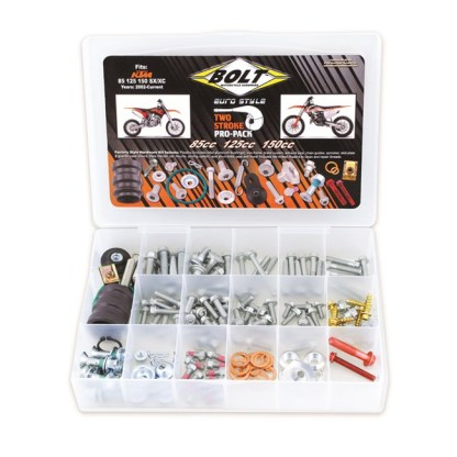 BOLT PRO PACK FASTENER KIT EURO STYLE 2T SX EXC 85-150 02-19 (R)
