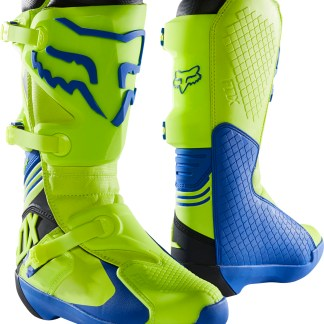 Fox Comp MX Adult Boots Yellow Blue