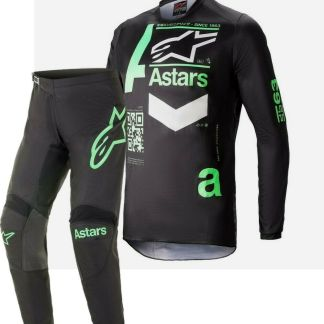 Alpinestars Adult FLUID Chaser Black Mint 2021 MX Kit Adult