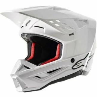 ALPINESTARS SM5 SOLID MOTOCROSS HELMET WHITE GLOSSY ADULT