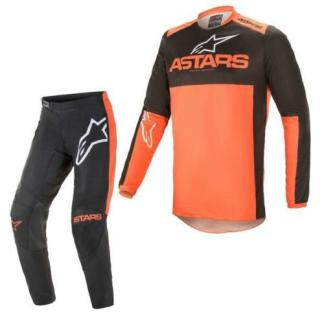 Alpinestars FLUID Tripple Black Orange 2021 MX Kit Adult