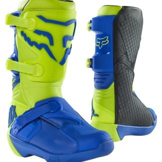 Fox Comp Youth Kids Motocross Boots 2021 ylw blu1