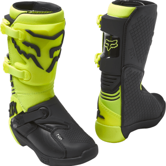 Fox Comp Boots Youth Flo Yellow1