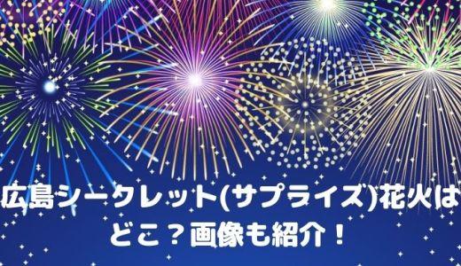 広島シークレット(サプライズ)花火2021今日の打ち上げ場所はどこ?ツイッター画像も紹介!