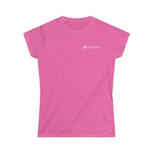 Pink Centered Women's Softstyle Tee