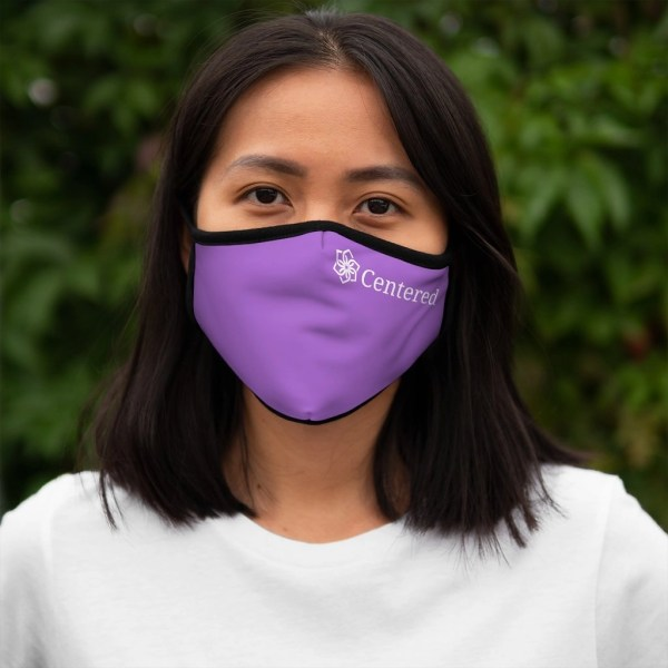 Centered Fitted Polyester Face Mask