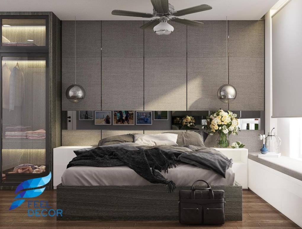 thiết kế thi công nội thất căn hộ 92m2