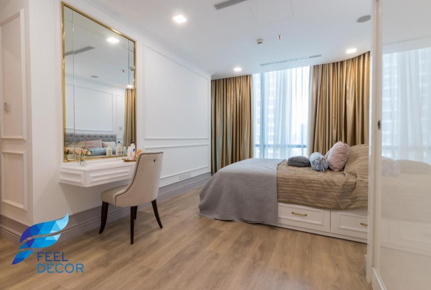 Hình ảnh thực tế thiết kế thi công nội thất căn hộ 2 phòng ngủ 84m2 tòa nhà Landmark 81