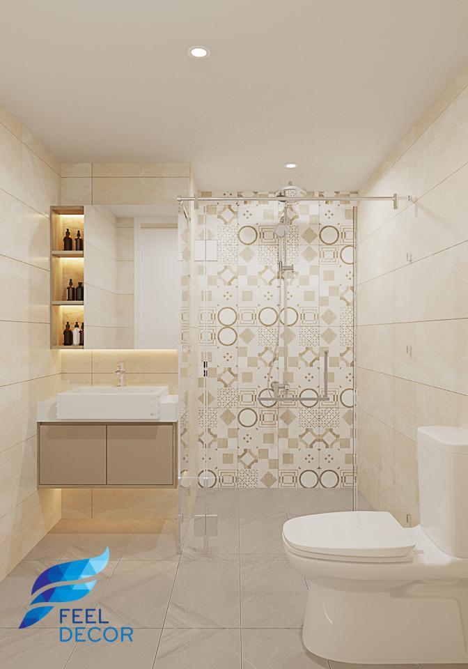 Hình ảnh Thiết kế nội thất căn mẫu nhà phố Vạn Phúc 3 tầng với phong cách hiện đại.