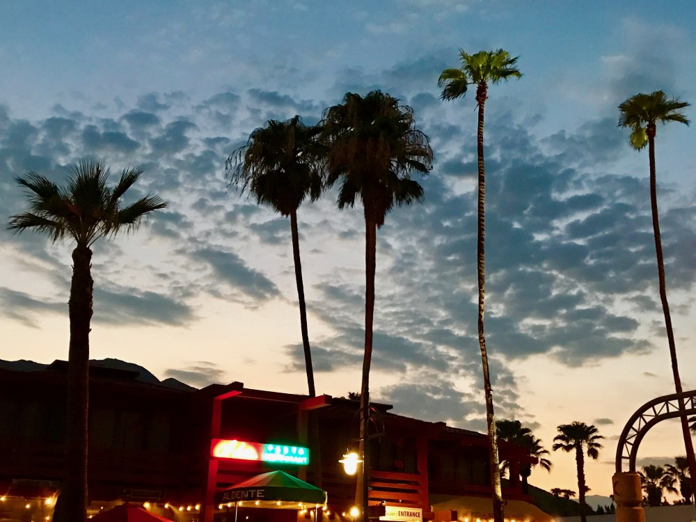 Sunset at Palm Canyon Drive, CA