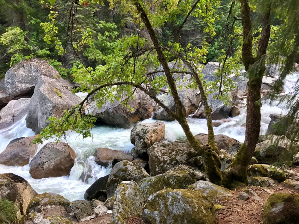 Merced River near Vernal Fall as seen from Mist Trail