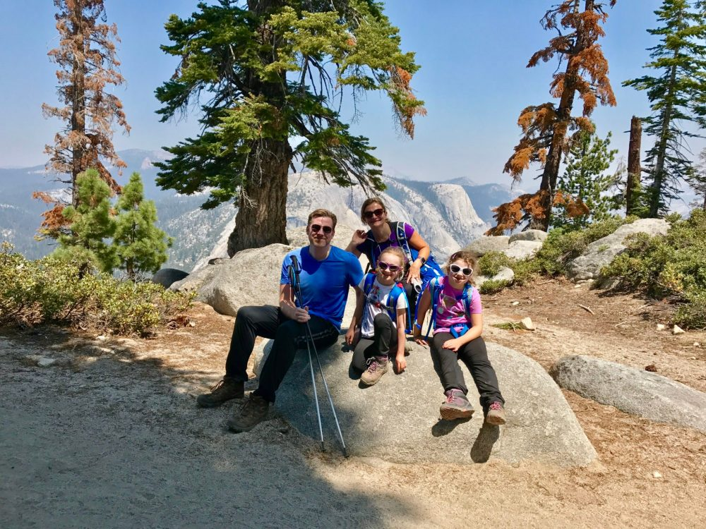 One of our family Yosemite photos on the way to Half Dome