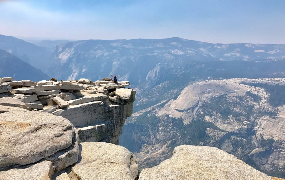 Rock on Half Dome where many take their Yosemite photos