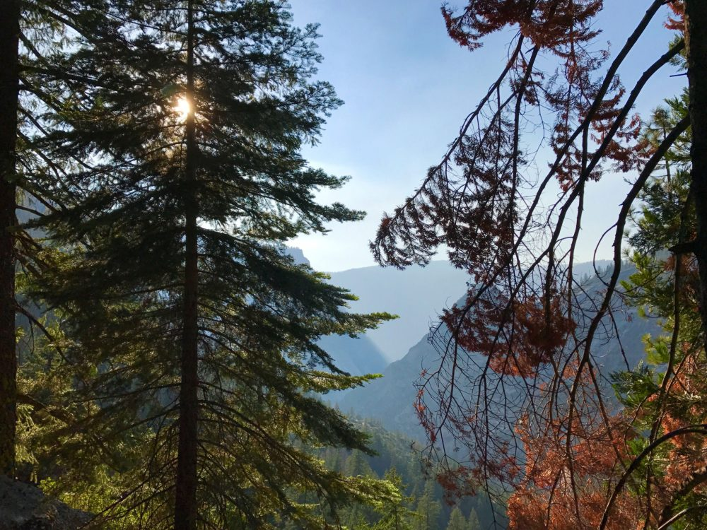 Sunset on John Muir trail