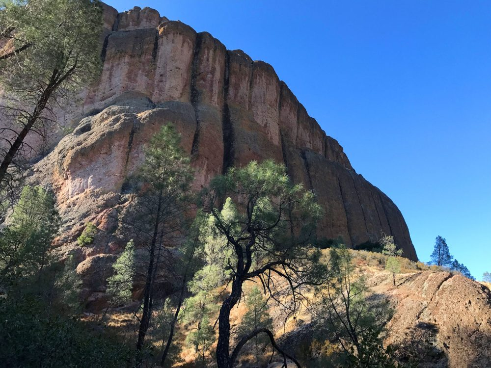 A large rock near Balconies Trail in Pinnacles National Park