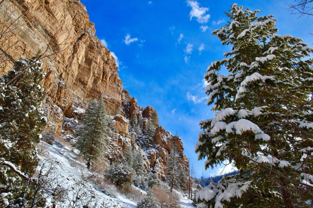 Looking at the walls of Glenwood Canyon
