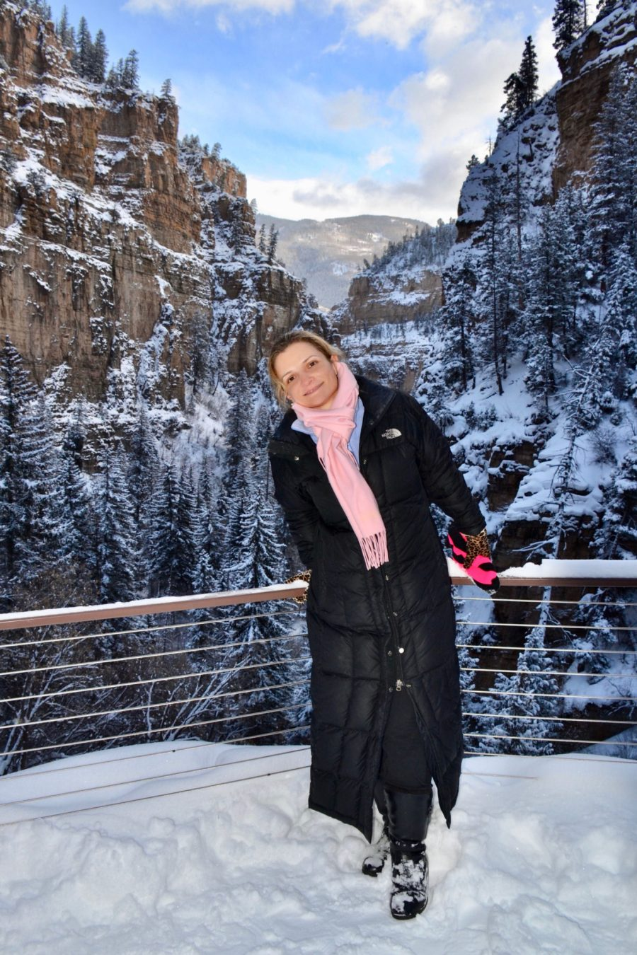 Posing with Glenwood Canyon