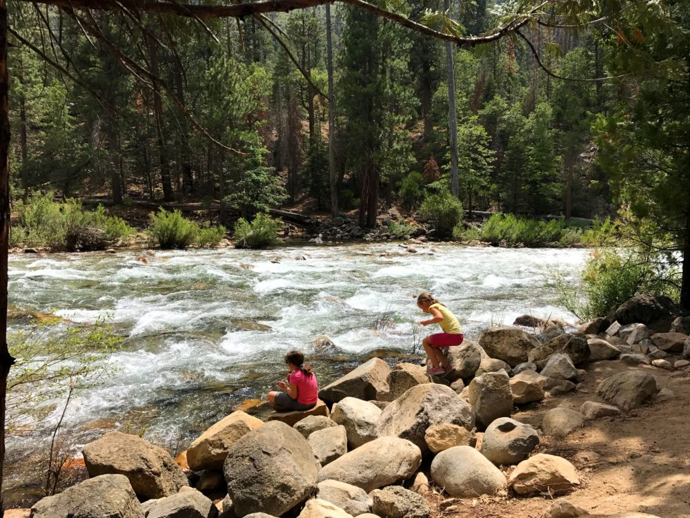 The kids near the Kings River