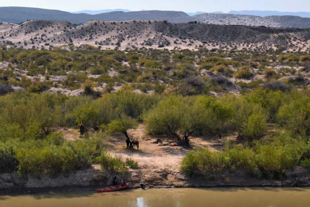 View of Mexico from Boquillas Canyon Overlook