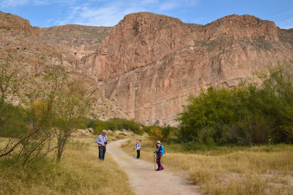 Walking on Boquillas Canyon Trail