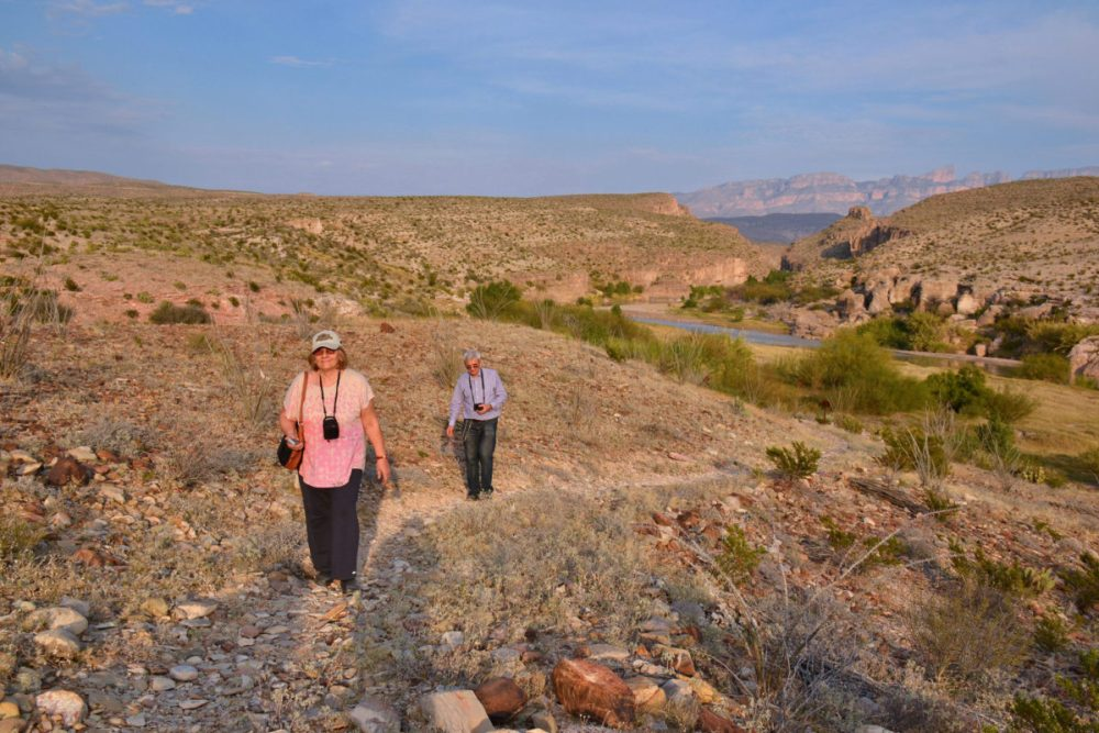 Hiking on Hot Springs Trail