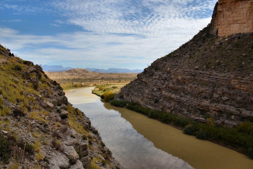 The Rio Grande entering Santa Elena Canyon