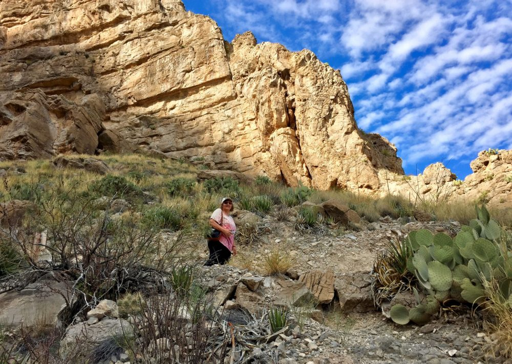 My mom on Santa Elena Canyon Trail