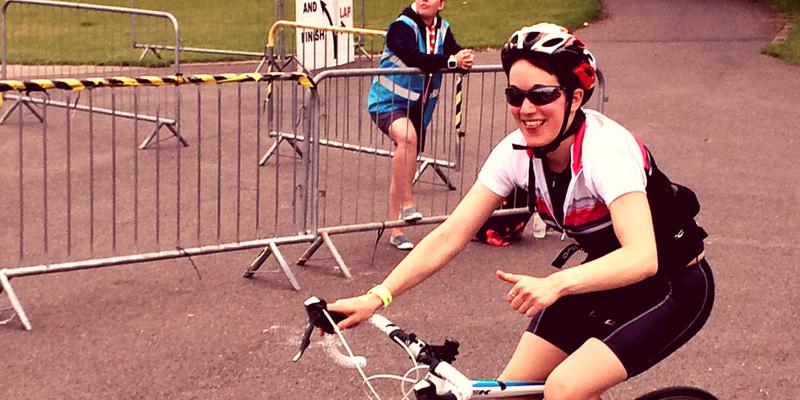 Photo of Naomi riding her Bike