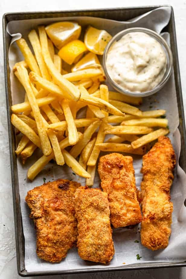 12. Air Fryer Fish and Chips Recipe