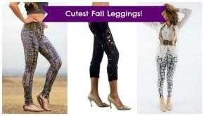 Fall Fashion: Cute Leggings