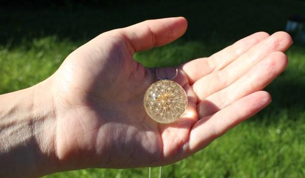 Etsy dandelion handmade necklace by Ural Nature
