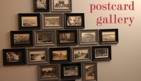 Create a gallery wall in your home using postcards