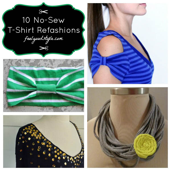 10 No Sew Projects for Old Tees