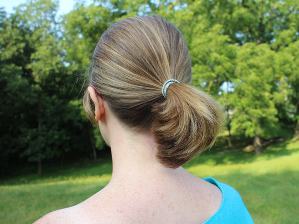 Start with a ponytail for the Gibson Tuck