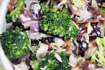 Healthy Creamy Broccoli Salad Recipe