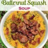 Bacon Sausage Butternut Squash Soup | Blender Soup | Paleo Soup