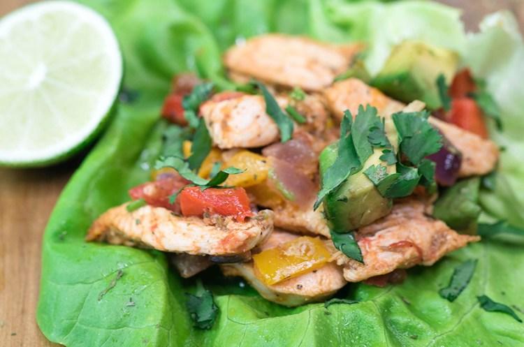Low Carb Chicken Fajita Lettuce Wraps