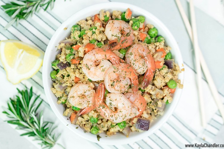 Low Carb Shrimp Fried Cauliflower Rice | 10-Minute Dinner Recipe