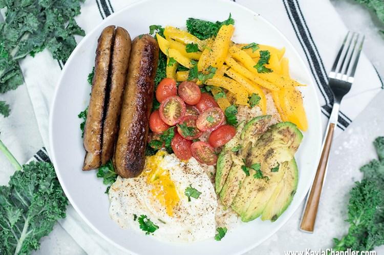 Savory Chicken Sausage Breakfast Bowl