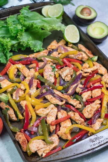 Keto Sheet Pan Chicken Fajitas