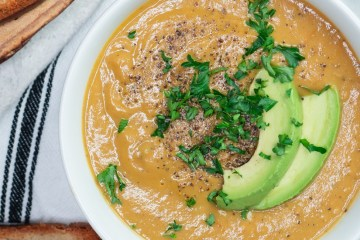 DAIRY FREE ROASTED TOMATO AVOCADO BISQUE
