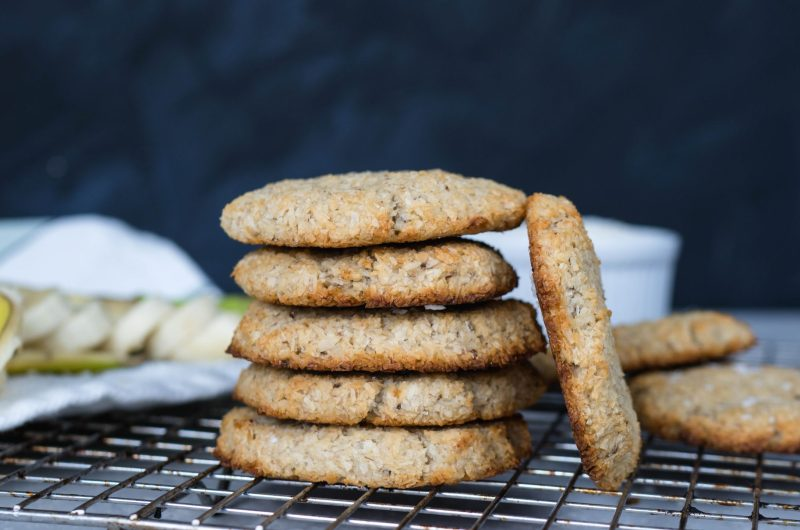 2-Ingredient Banana Coconut Cookies   Healthy Snack Recipes