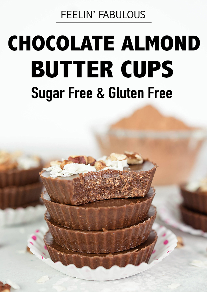 Chocolate Almond Butter Cups   Healthy Snacks